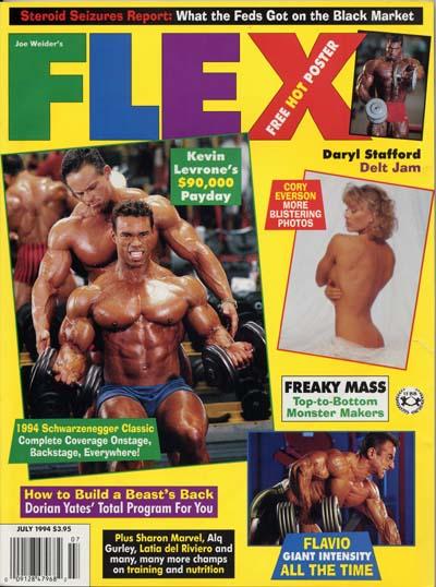 le cover delle copertine delle riviste di bodybuilding dedicate a Kevin Levrone pro ifbb