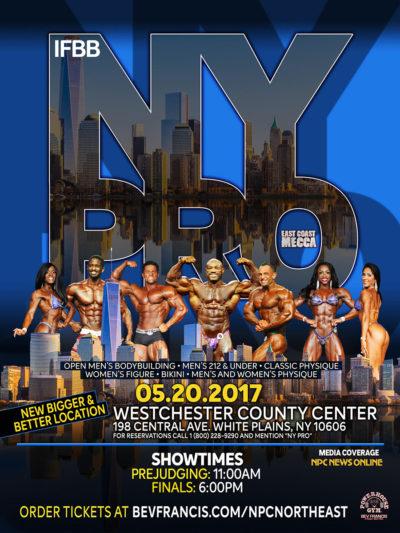 locandina del 2017 new york pro ifbb