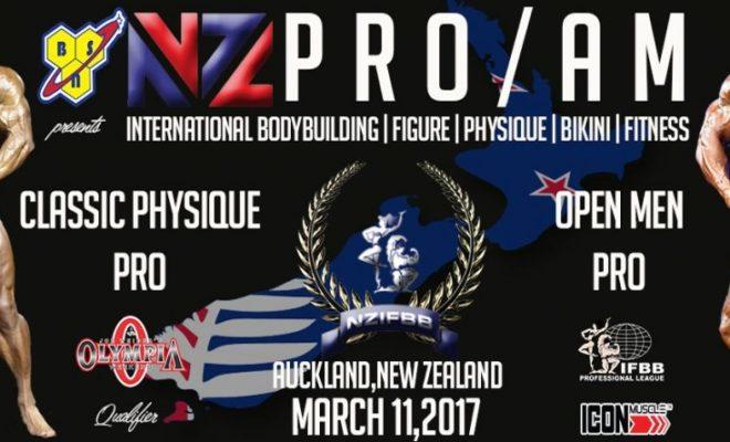 2017 new zealand pro ifbb locandina