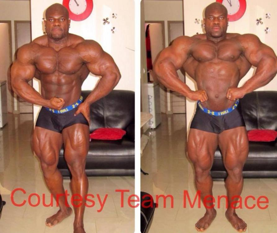 Lionel Beyeke 6 weeks out of the Arnold Classic Brazil 2014 at 272lbs