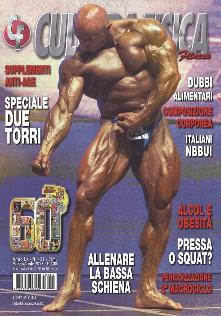 la cover della rivista cultura fisica di marzo aprile 2017 dedicata da tony mount