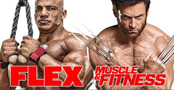logo flex magazine e muscle & fitness