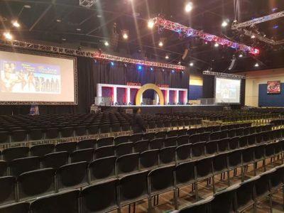 il palco della gara professionistica dell'Arnold Classic Africa 2017