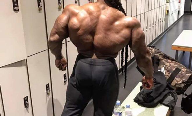 la schiena di Kai greene pro ifbb