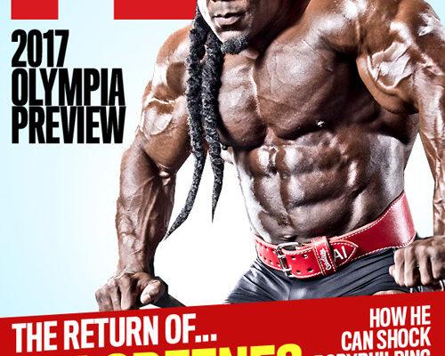 kai greene sulla cover della rivista flex magazine