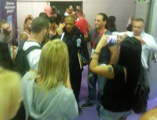 shawn rhoden nel backstage dell'Arnold Classic Europe 2015