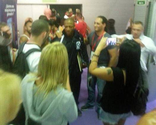 shawn rhoden nel backstage dell'Arnold Classic Europe 2015