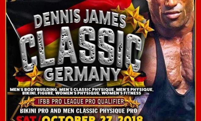 la locandina del dennis james classic ifbb pro qualifier 2018