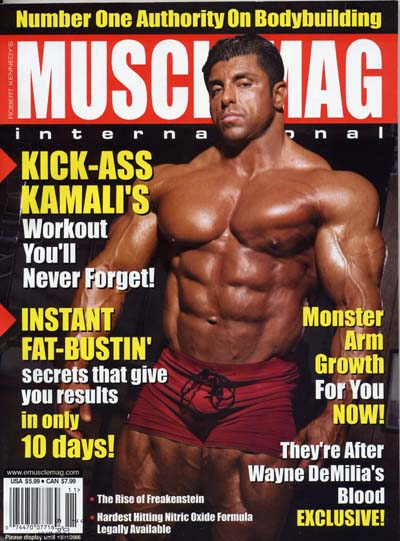 king kamali sulla cover di muscle mag international