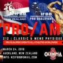 2018 new zealand pro ifbb 212 divsion