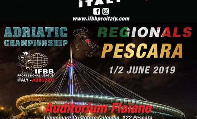 2019 adriatic championships ifbb pro league regionals