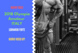 tony mount 2018 olympia amateur ITALY