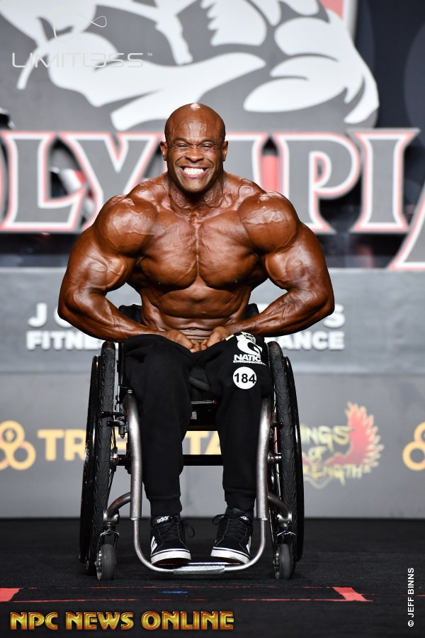 HAROLD KELLEY vince il mr olympia 2019 nella categoria wheelchair pro ifbb