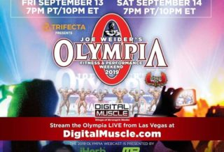 diretta streaming del mr Olympia 2019?