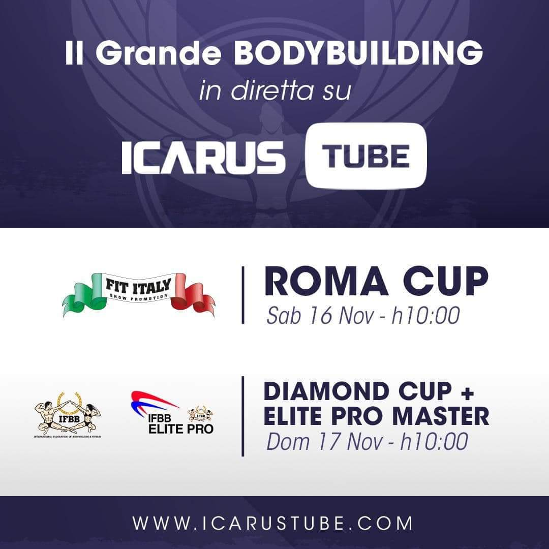 2019 ROMA CUP IFBB & DIAMOND CUP ROME IFBB DIRETTA STREAMING