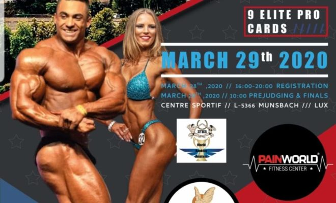 IFBB BELLUX CUP LUXEMBOURG & INTERNATIONAL BEGINNERS CUP 2020