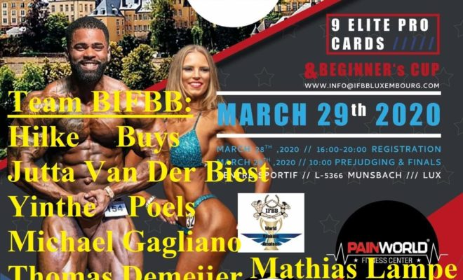 IFBB FIRST INTERNATIONAL BELLUX CUP LUXEMBOURG