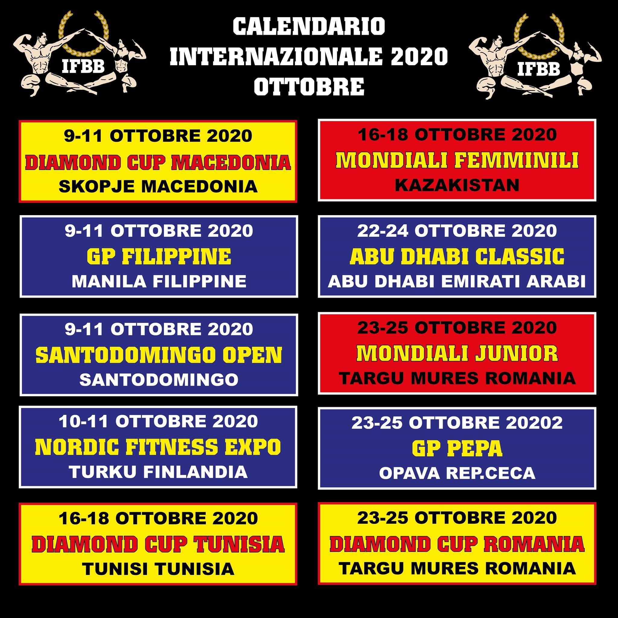 gare internazionali ifbb 2020
