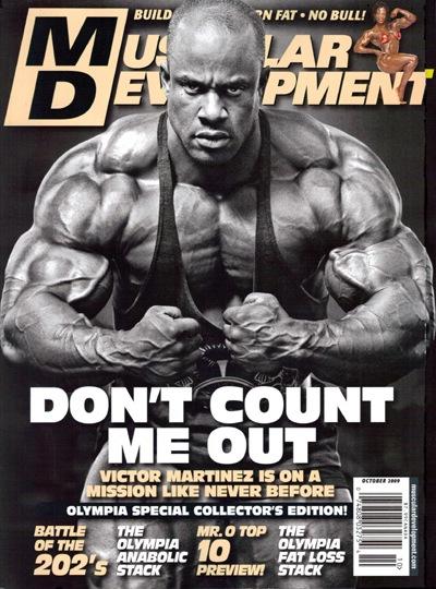 le copertine delle riviste di bodybuilding dedicate a victor martinez pro ifbb