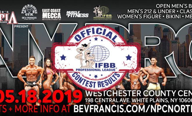 score cards del New York PRO IFBB 2019