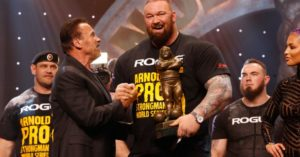 Hafthor Bjornsson all'Arnold Classic Strongman 2020 in Ohio