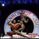 Steve Laureus sul palco dell'arnold classic ohio 2020 posing routine
