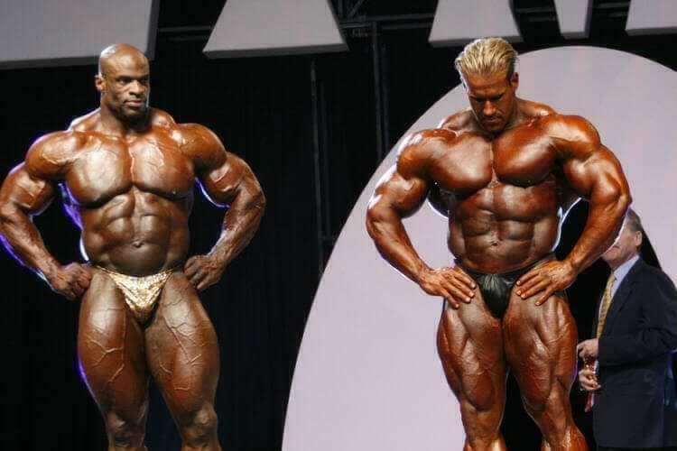 jay cutler VS ronnie coleman sul palco del mister olympia 2006