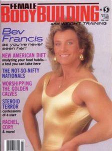 cover delle riviste di bodybuilding dedicate a Bev Francis pro ifbb