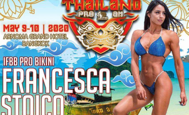 francesca stoico gareggerà al Tailandia pro ifbb 2020