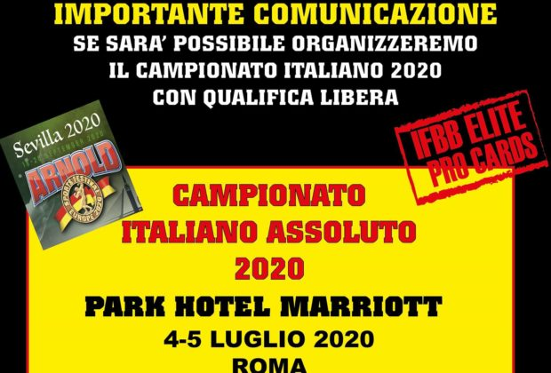 campionato italiano ifbb 2020