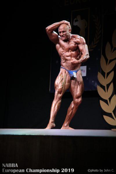 enrico frinsinghelli al 2019 NABBA EUROPEAN CHAMPIONSHIP master bodybuilding