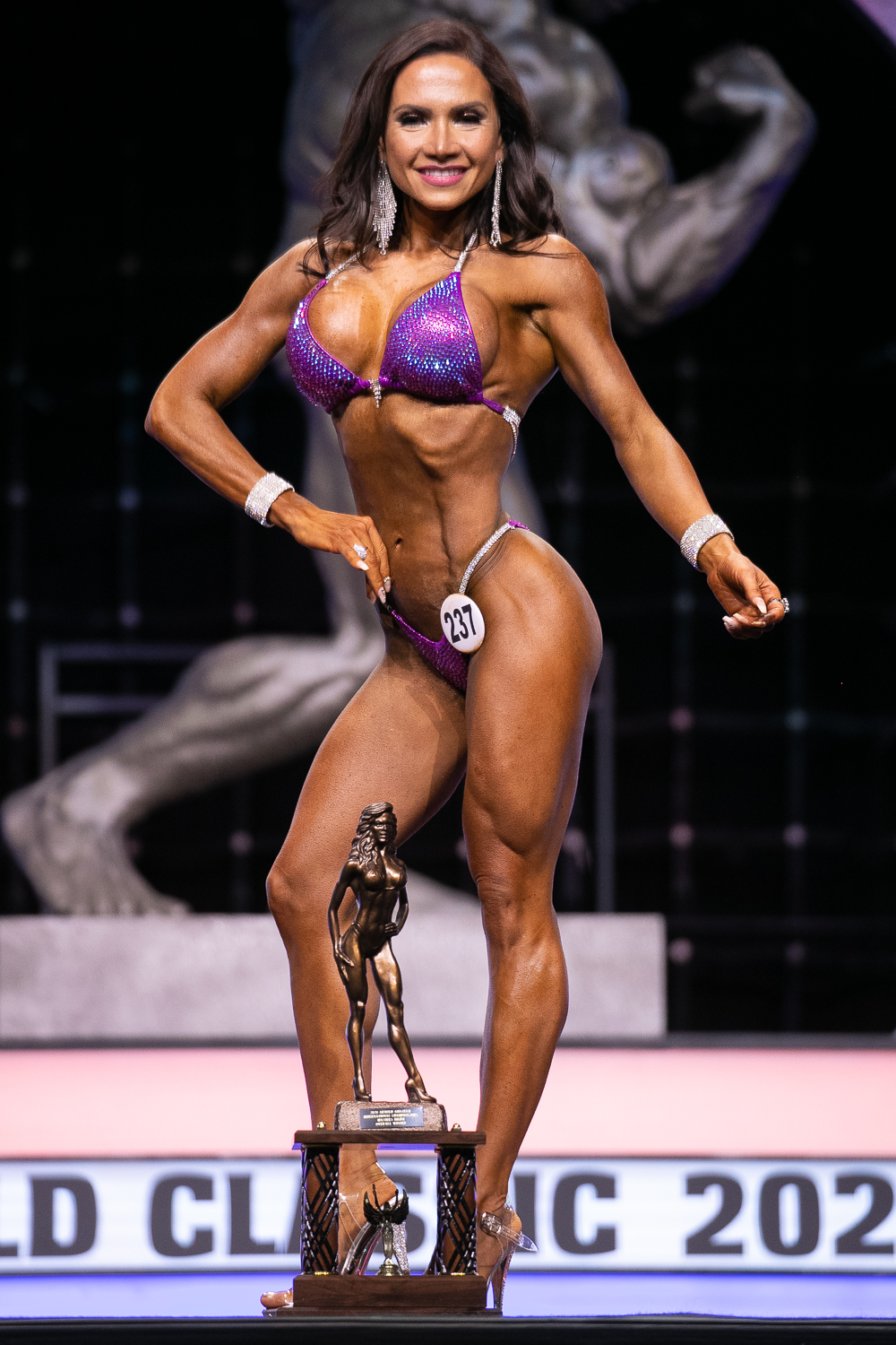Master's Bikini Overall Winner Yenirfer Zerpa #237 photo by Darren Burns