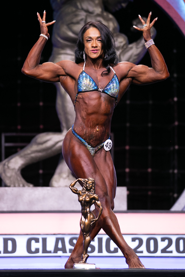 Women's Physique Overall Winner Ana Harias #49 photo by Darren Burns