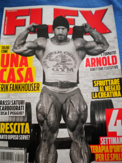 Erik Fankhouser flex magazine cover in italianojpg