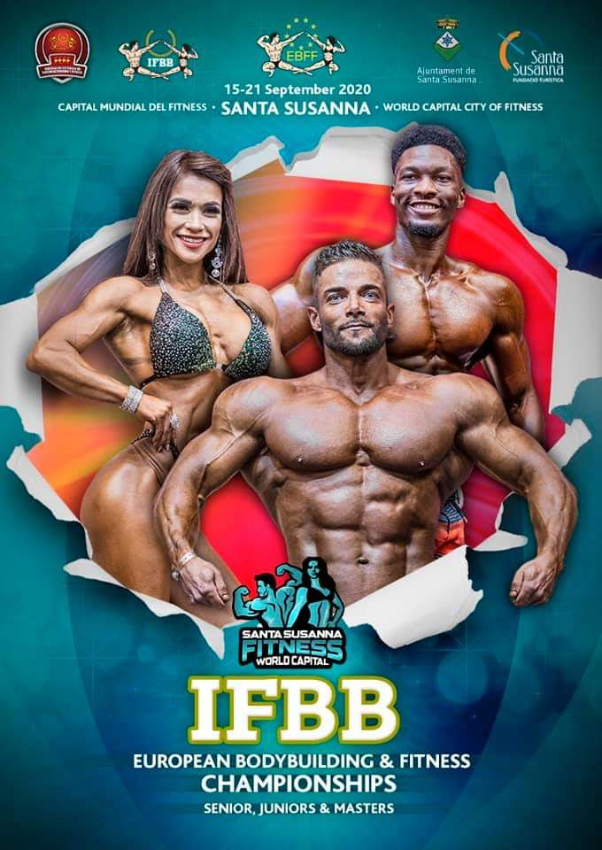 IFBB EUROPEAN BODYBUILDING & FITNESS CHAMPIONSHIPS 2020: POSTICIPATO A SETTEMBRE