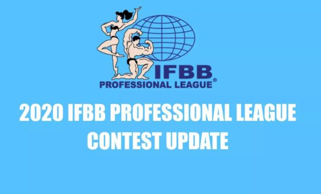 ifbb pro league calendario 2020