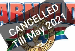 2020 arnold classic africa cancellato posticipato a maggio 2021
