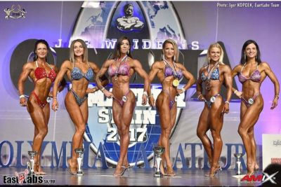 Angela Eremo ifbb italy sul palco dell'Olympia Amateur Spain 2017