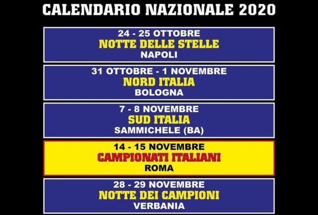 CALENDARIO GARE IFBB ITALIA 2020 AGGIORNATO AL 20 GIUGNO 2020