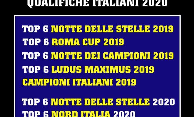 qualifiche campionato italiano IFBB ITALIA 2020