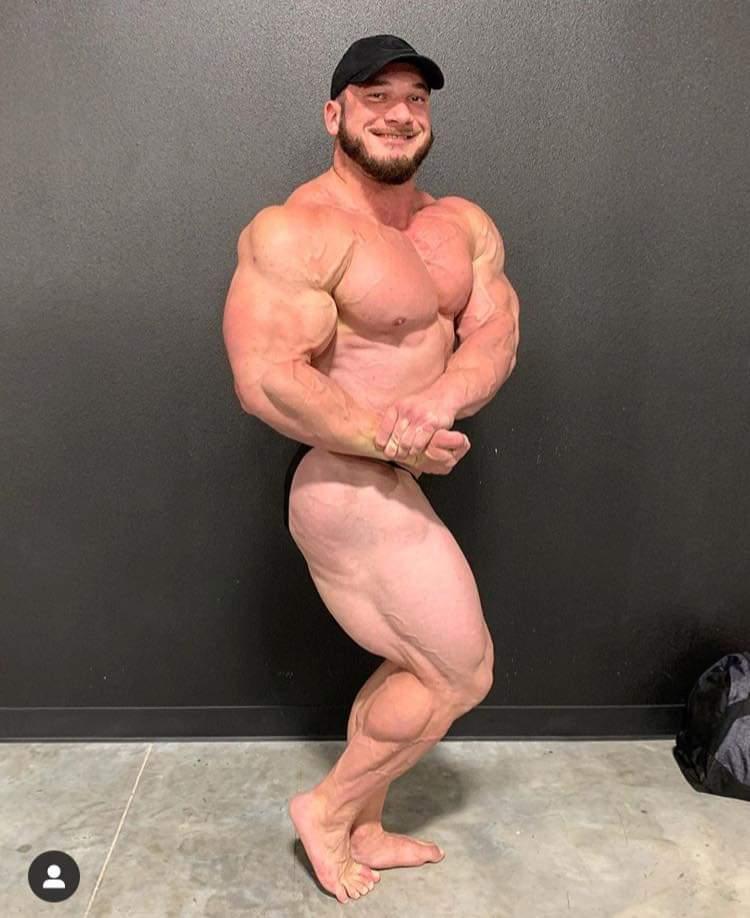Hunter Labrada pro ifbb a 5 settimane dalla gara in tampa side chest