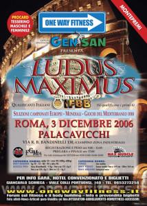 LOCANDINA LUDUS MAXIMUS IFBB 2006