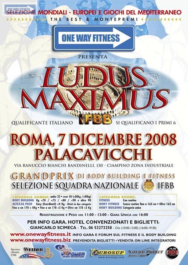 LOCANDINA LUDUS MAXIMUS IFBB 2008