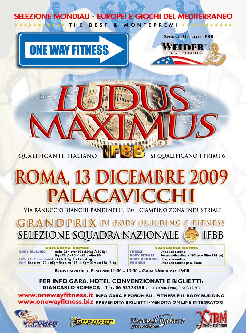 LOCANDINA LUDUS MAXIMUS IFBB 2009