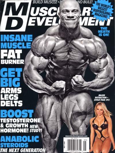 le cover delle riviste del settore di bodybuilding dedicate a PHIL HEATH MD