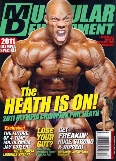 le cover delle riviste del settore di bodybuilding dedicate a PHIL HEATH muscular development