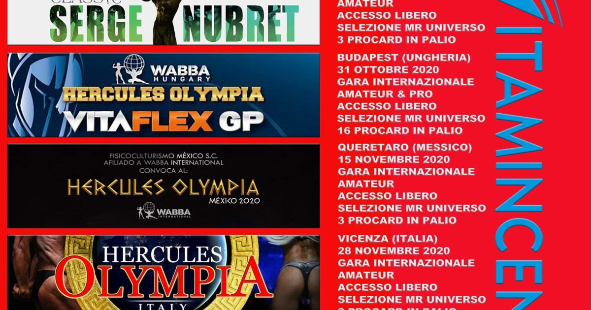 Calendario Gare Wabba 2021 CALENDARIO GARE DI BODYBUILDING   UltimateBeefMagazine