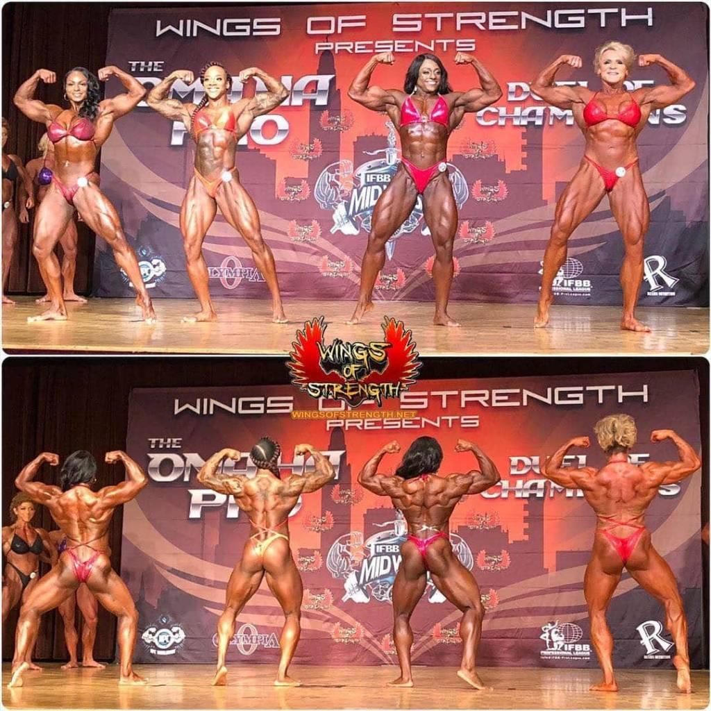 alcune foto del pregara del ohama pro ifbb 2020 women's bodybuilding