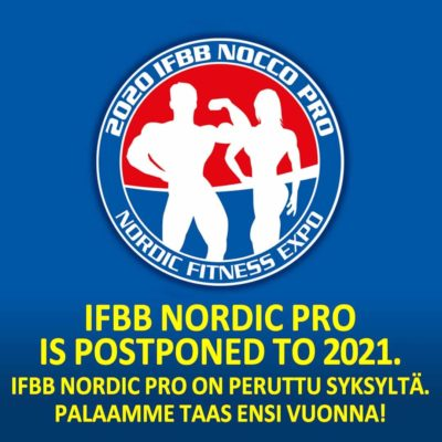 ifbb noridc pro is posteponed to 2021