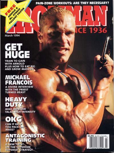 cover delle riviste di bodybuilding dedicate a Michael Francois IRONMAN